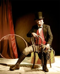 The boss maybe? He could've been a lion tamer once too. Ringmaster 2010 theme, photo and artwork Old Circus, Circus Acts, Dark Circus, Not My Circus, Night Circus, Circus Train, Halloween Circus, Circus Clown, Circus Theme