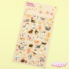 Funny Sticker World balloon stickers - Cat - Stationery | Blippo.com - Japan & Kawaii Shop
