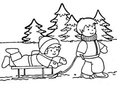 58 Best Winter Images Coloring Pages For Kids Colouring Pages For