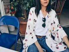 Türkü Turan Kimono Top, Tops, Women, Fashion, Moda, Fashion Styles, Fashion Illustrations, Fashion Models