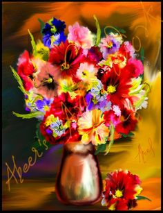 Flowers digital impressionism - Digital Art by abeers  art work in digital painting at touchtalent 51130