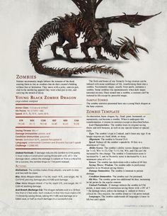 Zombie Dragon D&D, this monster can be found in the 3.5th Edition Draconomicon, pge 197-Shaad