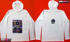 """Eclipse Over Stonehenge"" UV-Blacklight Fluorescent & Glow-In-The-Dark Psychedelic Art Mens Hoodie in White, $46 in Tripleview Art eBay Store _____________________________ #psychedelic #psy #trance #psytrance #goatrance #rave #trippy #hippie #esoteric #mystic #spiritual #visionary #symbolism #UV #blacklight #fluorescent #fluoro #fluo #neon #glow #glowinthedark #phosphorescent #luminescent #art #hoodie #stonehenge #eclipse #rainbow #elves #goblins #party www.TripleviewArt.com"