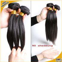 unprocessed Peruvian Virgin Hair straight ,remy human hair bundles, 3 bundles  100GRAMS EACH!! 18 INCH! NATURAL COLOR BLACK OR BROWN!  **ALL SALES ARE FINAL**