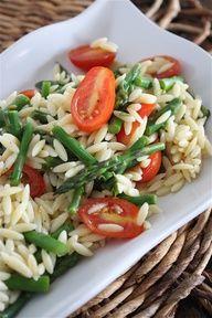 www.gaea.gr  Lemon Orzo Salad with Asparagus and Tomatoes