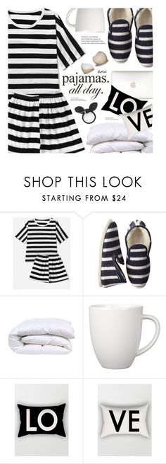 """pajamas all day"" by meyli-meyli ❤ liked on Polyvore featuring Mark & Graham, Arabia, romwe and LovelyLoungewear"
