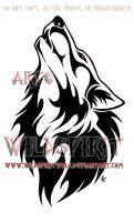 Ambereye Wolf Tattoo Commission by WildSpiritWolf