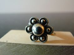 Vintage Silver Dainty Flower Ring by FourSailAccessories on Etsy, $12.00