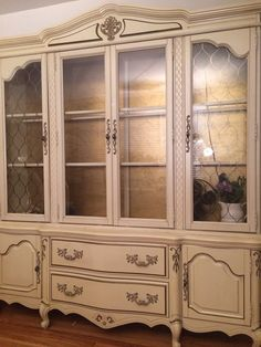 Paint to orderVintage French Provincial China by LaVantteHome, $1299.00  Deja vu!  Looks just like my Grandmother Mether's Hutch she had for many years that came from MN to CO & TX~!!!