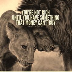 """ You are not rich until you have something that money can't buy """