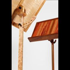 cherry and tiger maple contemporary wood music stand