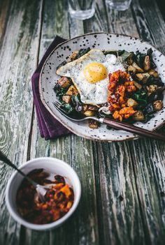 Izy Hossack's Chard Hash with Red Pepper Salsa | west elm Breakfast