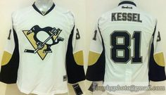 Youth NHL Pittsburgh Penguins #81 Phil Kessel White Jersey