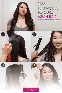 Easy Techniques to Curl Asian Hair by Maritza Buelvas