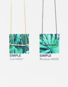 hvisk simple edge necklace in gold and rhodium
