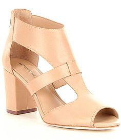 Irinah Stripe Ruffle Detail Block Heel Dress Sandals kWb0xfiL