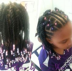 Natural Hairstyles for Kids 152246 Braids Twists and Cornrows Natural Hair Kids Lil Girl Hairstyles, Natural Hairstyles For Kids, Twist Hairstyles, Summer Hairstyles, Children Hairstyles, Toddler Hairstyles, Little Girl Braids, Braids For Kids, Girls Braids