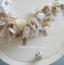 burlap and lace table number ideas - Google Search