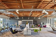 Ultra modern office of Blitz Design - an old warehouse wakes up to new life - Fashion And Hairstyle Fun Office Design, Workplace Design, Commercial Design, Commercial Interiors, Corporate Design, Cafe Design, Store Design, Interior Work, Arquitetura