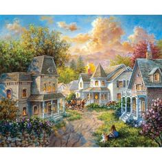 Nicky Boehme | Nicky Boehme: Main Street along a country Village Puzzle 1500 Teile ...