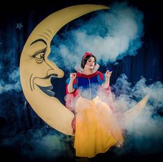 Amber Arden, as Snow White, sitting on our Vintage Paper Moon. Photographed by Star Foreman for LA Weekly. http://www.laweekly.com/slideshow/the-princesses-of-hollywood-5985411