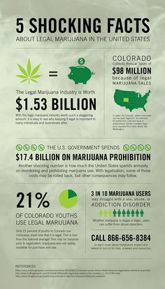 This infographic examines shocking facts about legal marijuana in the US including the financial profit states have experienced after legalization as well as the affect, if any, legalized marijuana has had on substance abuse addiction in those areas. Marijuana Facts, Medical Marijuana, Reverse Cell Phone Lookup, Timeline Infographic, Infographics, Camping Must Haves, Shocking Facts, Protest Signs, Thing 1