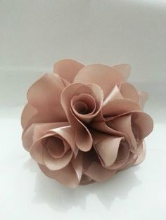 Learn How to Make 3 Beautiful Satin Flower Models Satin Flowers, Diy Flowers, Fabric Flowers, Flower Model, Crafts For Kids, Diy Crafts, Handmade Flowers, Bouquet, Place Card Holders