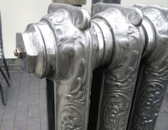Rococo Cast Iron Radiator in the Hand Burnished Finish