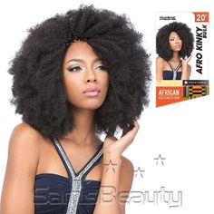 Sensationnel Synthetic Hair Braids African Collection Afro Kinky Bulk 20""