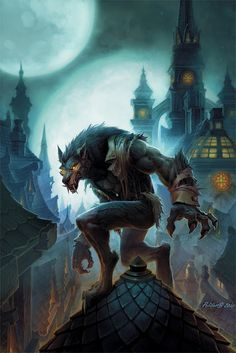 Worgen art from World of Warcraft?