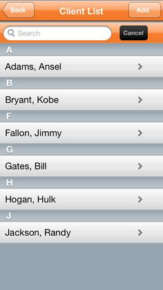 Our #iPhone #App Client List to keep all your clients organized in one place.