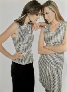 Tatjana and Paulina - Episode 1996 Tatjana Patitz, Polka Dot Top, Tops, Women, Fashion, Womens Fashion, Moda, Fashion Styles, Fashion Illustrations