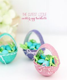 DIY Easter : DIY Itty Bitty Paper Mache Easter Baskets