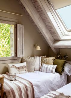 Bedroom under the eaves