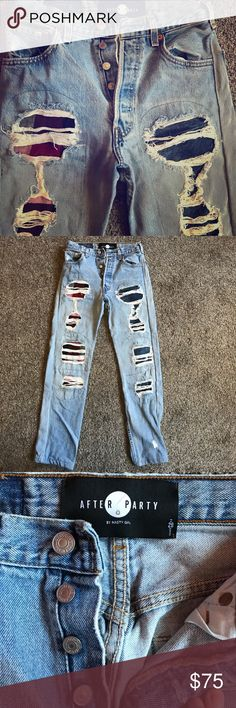Grunge / Kurt Cobain style Nasty Gal Jeans 👖NWOT Grungey Kurt Cobain vmas 1993 style jeans / One belt loop disconnected- came that way when I purchased / Never Worn! / Very soft Nasty Gal Jeans