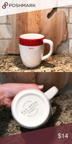 b5cb344aed6 RAE DUNN Red Polka Dot GULP Christmas Mug. NEW !! Rae Dunn Christmas Mug  Text: Gulp Authentic, New and Fun!! Rae Dunn Other