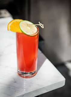 Cold in the Shadows: An ode to Northern California, the Cold in the Shadows hints at San Francisco's chilly umbra, even in the warmest of months. Each ingredient is connected to the region—the IPA from the Anderson Valley, Campari, whose headquarters are housed in San Francisco, and St. George from Alameda.