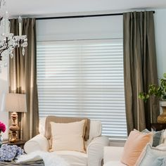 2 Premium Faux Wood Blinds From Selectblinds Look Perfect Paired With Pleated D