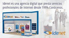 Idenet es una Agencia web especializada en comercio electrónico, diseño web y marketing online. Conocenos http://www.idenet.net/agencia-digital-de-diseno-web