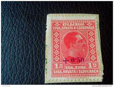 RRRR 1 D+0.50 OVERPRINT YUGOSLAVIA-KRALJEVINA SRBA-HRVATA-SLOVENACA STAMPS RECOMMENDET LETTRE ON PAPER COVER - 1919-1929 Kingdom Of Serbs, Croats And Slovenes