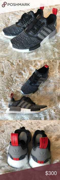 Adidas NMD R1 ✨ Core Black/Solid Grey Men's 6 will fit Women's 7 - Men's 7 will fit Women's 9  100% authentic! Comes with original box.   ✅ Bundle to save on shipping costs! ♏️ Lower prices on Merc! Find my page by searching for @heather_lynn.  ❌ Price is FIRM! ❌ NO TRADES! ❌ Lowball offers will be ignored and deleted.  Closet Tags: VS, Victoria's Secret, Sport, PINK, Nike, Follow Me, Follow Game Adidas Shoes Sneakers