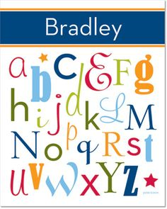 A would love this for his room, since he's learning the alphabet right now!