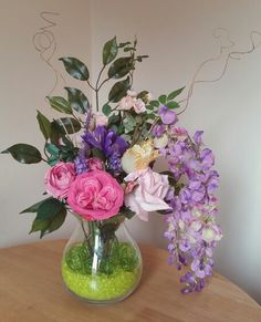 Beautifully designed faux flower vase arrangement available exclusively at Pozy Posy.