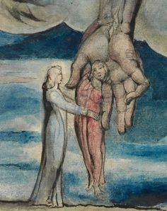Detail from Antaeus setting down Dante and Virgil in the Last Circle of Hell, William Blake, 1824 1827 Dante Alighieri, William Blake, Mythology, Caviar, Detail, Artworks, Romantic, Painting, Image