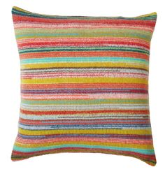 locomotive stripe knitted lambswool cushion by gabrielle vary knitwear | notonthehighstreet.com
