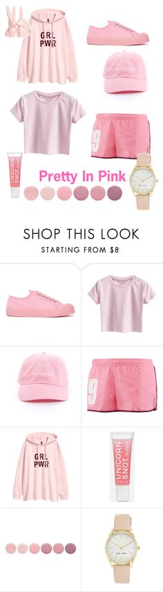 """Pretty in Pink"" by c-parker-lucas ❤ liked on Polyvore featuring Novesta, Reebok, Deborah Lippmann and Nine West"