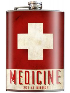 Trixie And Milo Medicine Flask, 8 oz. Stainless Steel