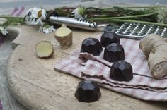 Ginger in dark chocolate. Hand-made artisan chocolate by Bennetts of Mangawhai. Artisan Chocolate, Chocolates, Dark, Handmade, Hand Made, Schokolade, Craft, Chocolate, Brown