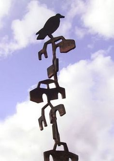 """Totemobile"" painted steel by Louis Fatta"
