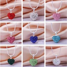 Item specifics     Condition:        New with tags: A brand-new, unused, and unworn item (including handmade items) in the original packaging (such as    ... - #Jewelry https://lastreviews.net/fashion/womens/jewelry/fashion-crystal-heart-silver-plated-necklace-jewelry-pendant-chain/